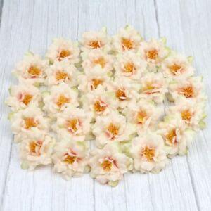 6/120X Artificial Rose Fake Flowers Head Snow bud DIY Bouquet Wedding Home Decor
