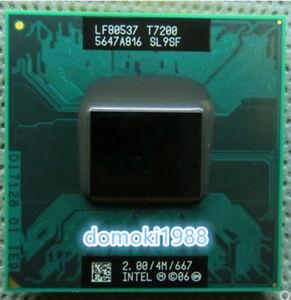 Intel Core2 T7200 T7400 T7600 4M/667MHz laptop CPU