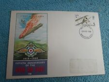 Enveloppe Premier Jour FDC Fiftieth anniversary of the Royal Air Force 1918 1968