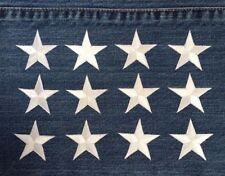 """white star embroidered iron on applique patch 2"""" size (lot of 12 pcs)"""