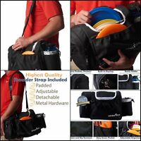 Disc Golf Bag Tote Bag for Frisbee Golf Holds 10-14 Discs Water Bottle and Black
