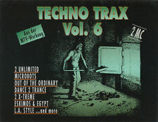 Techno Trax, Vol. 6 by Various Artists (Cassette, 1992, 2 Tapes, ZYX Music)