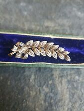 Antique Rose Cut Diamond Brooch Set In Silver And 18ct Gold