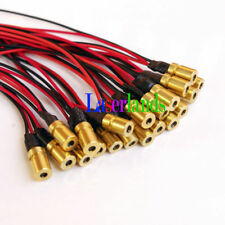 100pcs 8*13mm mini 650nm 660nm 3.2mW 5mW 3VDC Red Laser Dot Diode Module LD