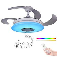 Modern Fan Of Ceiling With Light With Control Distance With Speaker Bluetooth