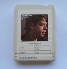 JACQUES BREL La fanette CANADA 8 TRACK TAPE CARTRIDGE CARTOUCHE 8 PISTES FRENCH