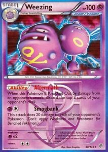 WEEZING 58/135 - BW PLASMA STORM POKEMON RARE CARD