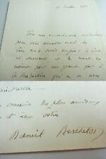 Biochemiker Daniel Berthelot (1865-1927): Letter 1911 An Éve Paul-Margueritte