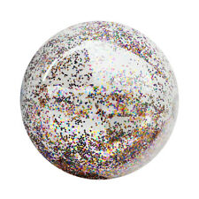 1pc Beach Ball Funny Transparent Sequin Inflatable Balls for Kids Children Adult