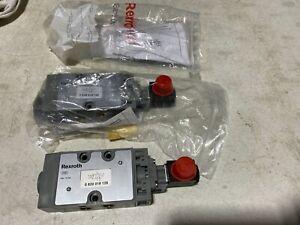 One Bosch Rexroth 0820018128 Pneumatic Solenoid Valve 10bar 24-48V, NOS