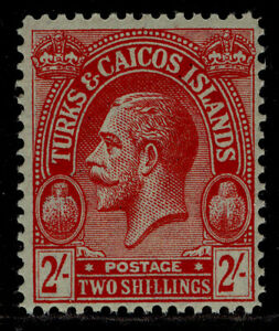 TURKS & CAICOS ISLANDS GV SG174, 2s red/emerald, NH MINT. Cat £21.