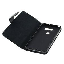 Book Case Etui Handytasche Tasche hülle F. LG V30 (schwarz)