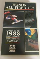 GENUINE AUTHENTIC F1 1988 REVIEW VHS FORMULA ONE OFFICIAL REVIEW VIDEO
