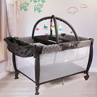 Black All in 1 Baby Portable TraveL Cot Portacot Bassinet Playpen toy