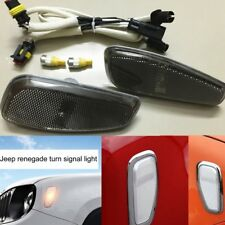 Smoke Front Turn Side Signals Lights Cover For Jeep Renegade Accessories 2015-17