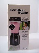 Single Serve Blender by Hamilton Beach 51101B Black Travel Cup & Lid NIB