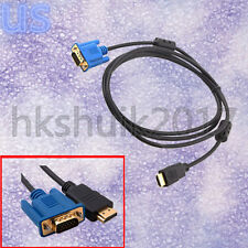 VGA HD-15pin Male M/M Gold Male to HDTV HDMI Cable 1080P 3M For PC TV