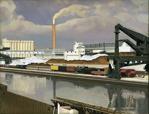 "Charles Sheeler, ""American Landscape"", 1930 - Archival Quality Art Print"