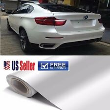 """100% BUBBLE FREE"" GLoSSy Premium White Vinyl Wrap Sticker Film Sheet 60""x96"""