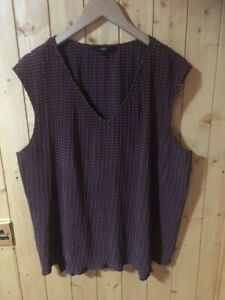 NEXT Ladies Top Size 20 Brown