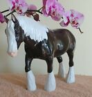 ??Breyer Shire Draft Clydesdale Gypsy Vanner??Charcoal Glossy Custom??Ironmaiden
