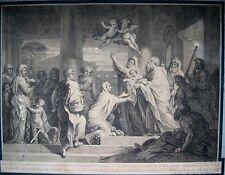 GRAVURE-MICHEL CORNEILLE-JEAN MARIETTE-AUDRAN-BIBLE-JESUS-MARIE-RELIGION-XVII e-