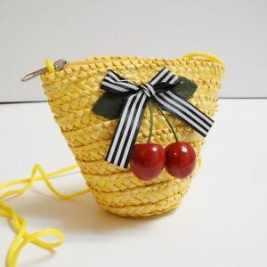 Handmade Little Girls' Go Go Straw Mini Shoulder bags & Wallets
