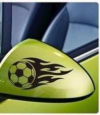 2x Fiamme Tribale SOCCER BALL Finestrini Auto Paraurti Decalcomania In Vinile Adesivo JDM VW BMW