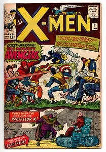 X-MEN #9 INCOMPLETE 1ST AVENGERS X-MEN MEET 1965 OFF-WHITE PAGES
