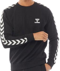 Hummel Classic Large Logo Mens Sweatshirt Black/White Sizes new