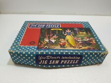 Walt Disney Snow White and the Seven Dwarfs Jig Saw Puzzle J-MAR Vintage