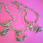 Antique Jewellery Art Deco Quality Marcasite Necklaces And Brooches