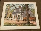 """Vintage Vernon Wooten Water Color """"The Printing Office"""" 11"""" x 14"""" VEW ARTS"""