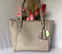 NWT AUTH Kate Spade Orchard Street Maya Tassels Large Pebbled Leather Tote Bag