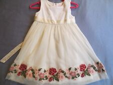 EUC Janie & Jack TARTAN ROSE Ivory Holiday Dress Girl 2T,2
