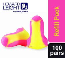 100 Pairs (200 ear plugs) Howard Leight Laser Lite