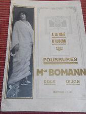 CATALOGUE MODE FOURRURES MAISON BOMANN a DOLE et DIJON année 1913 ( ref 46 )