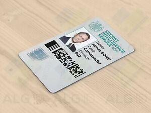 ALG ID Cards® - Novelty James Bond 007 Spy ID Card - Made in Britain - Freepost