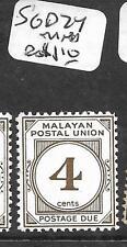 MALAYA MPU  (P2503B)  POSTAGE DUE  4C  SG D24  MNH