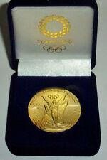 2020 TOKYO JAPAN OLYMPIC 24K GOLD CLAD COMMEMORATIVE MEDALLION MEDAL COIN COA