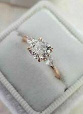 14k Rose Gold Over 1.50 CT Women's Round VVS1 Diamond Engagement Wedding Ring