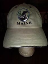 Maine Ball Cap in Green One Size Adult New