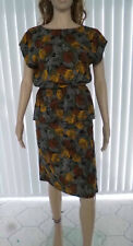 Ladies vintage 80s sleeveless peplum dress fit size 10