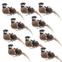 12pcs Artificial Birds Ornaments Clip On Christmas Tree Lawn Home Xmas Decor Set
