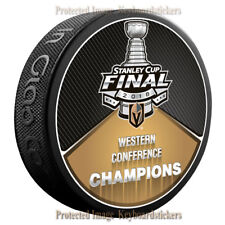 Vegas Golden Knights 2018 Stanley Cup Final Western Conference Champions Puck