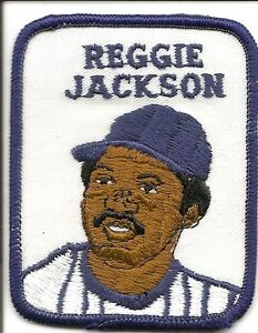 REGGIE JACKSON 1979 Vintage Penn Emblem Baseball Patch Athletics-Yankees-Angels