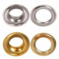 100 Large Silver or Gold Eyelets in Various Sizes From 9mm - 15mm - UK SELLER