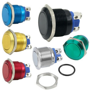 ✅ Drucktaster Schalter KFZ Hupe Switch 12V / 24V / 230V / 250V / 5A Ø19mm IP65 ✅