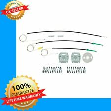 FOR PEUGEOT 607 window regulator repair kit cables and clips front left