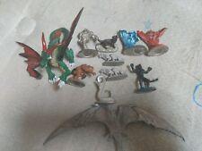 Vintage Metal D&D Ral Partha 11 Figures  Monsters Lot Big Dragon table top RP